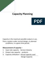 Capacity Planning Module III
