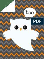 Halloween Owl Boo Printables