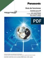 Guia de Funciones Centrales Panasonic NCP500 NCP1000