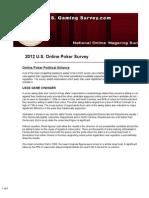 U.S. Online Poker Survey 2012
