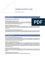 North Sac Crime Activity Log (Sept 18, 2012 – Sept 24, 2012)