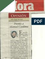 Premio a Manuel Cardona