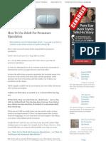 Lasting longer the treatment program for premature ejaculation pdf