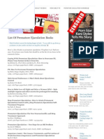 List of Premature Ejaculation Books