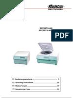 Hettich Rotanta 460 - Operating Manual