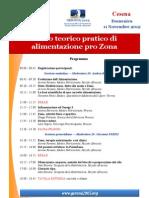 Programma Corso Alimentazione Pro Zona Cesena 11:11:2012