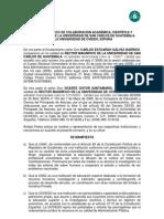 Convenio Marco de Colaboración Académica, Científica y Cultural entre la Universidad de San Carlos de Guatemala y la Universidad de Oviedo, España.