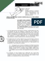 Remisión de la Resolución de la Corte Intermaricana de Derechos Humanos - Caso Barrios Altos