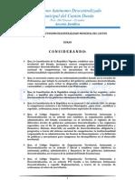 Ordenanza de Patente Municipale de DURAN