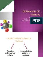 DEFINICIÓN DE FAMILIA