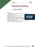 Registro Nacional de Contratistas (Instructivo)