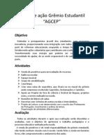 PLANO DE AÇÃO DO GREMIO ESTUDANTILI segundo semestre