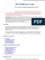ECU Error Codes