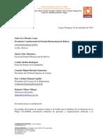 Acción Urgente Persecución de Defensa de DD.HH en Bolivia