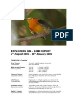 Bird Sightings Document and Maps