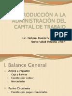 INTRODUCCIÒN A LA ADMINISTRACIÒN DEL CAPITAL DE TRABAJO
