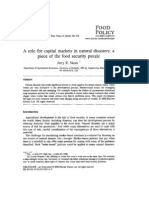 2000 Role for Captial Markets Food Policy Journal_jrs