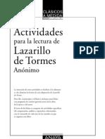Actividades Lectura Lazarillo de Tormes