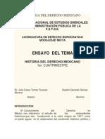 Ensayo Historia Del Derecho Mexicano