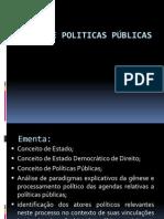ESTADO E POLITICAS PÚBLICAS