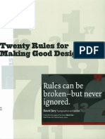 20 Rules of Design