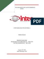Contabilidad Financiera I _ INTEC _ Portafolio Entrega I