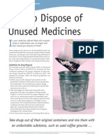 Safe Disposal of Meds