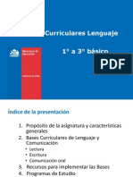 Bases Curriculares Lenguaje 1 a3