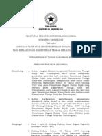Pp No 65 Th 2012 Ttg Jenis Dan Tarif Atas Jenis Penerimaan Negara Bukan Pajak Yang Berlaku Pada Kementerian Tenaga Kerja Dan Transmigrasi