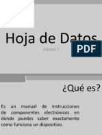 Hoja de Datos