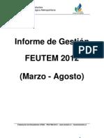 Reporte de Gestion FEUTEM 2012