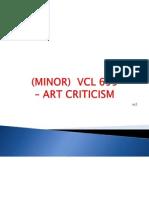 Art Criticism 1 -Topic 1
