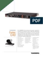Videoconferencing Tandberg Codec c40 Datasheet