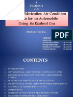 Automobile Air Condition System Using Exahust Gas