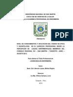 Tesis Codigo de Etica y Deontologia-Enfermeria