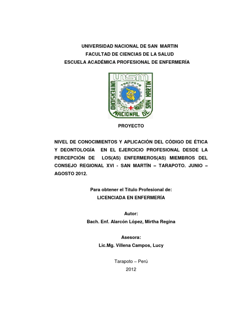 Tesis de enfermeria pdf en peru