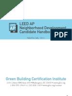 LEED AP ND Candidate Handbook