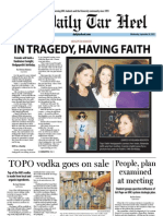 The Daily Tar Heel for September 26, 2012
