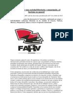 Declaración de Federación Anarquista Revolucionaria de Venezuela FARV ante las elecciones del 7 de octubre