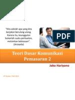 SKOM4328 #3 - Teori Dasar Komunikasi Pemasaran 2