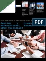 """curso """"GESTIÓN Y DIRECCIÓN DE ASOCIACIONES, FUNDACIONES Y ONGS CULTURALES"""""""