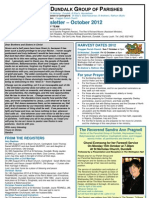 Parish Newsletter - October 2012