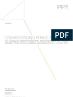 Understanding public attitudes to growth, manufacturing and financial services