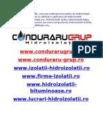 Realizarea Lucrarilor de Hidroizolatii