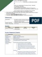 SAP ABAP Profile Rahul