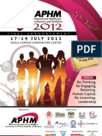 APHM 2012 - Final Announcement Brochure