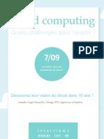 Cloud Computing, Quels Challenges Pour l'Avenir