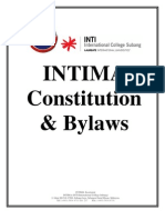 INTIMA Constitution & Bylaws (Revised Aug 2012)