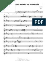 Com o Espirito de Deus Em Minha Vida - Partitura - Sopros - Sax Soprano