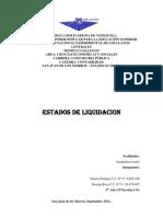 Trabajo Final de Estado de Liquidacion